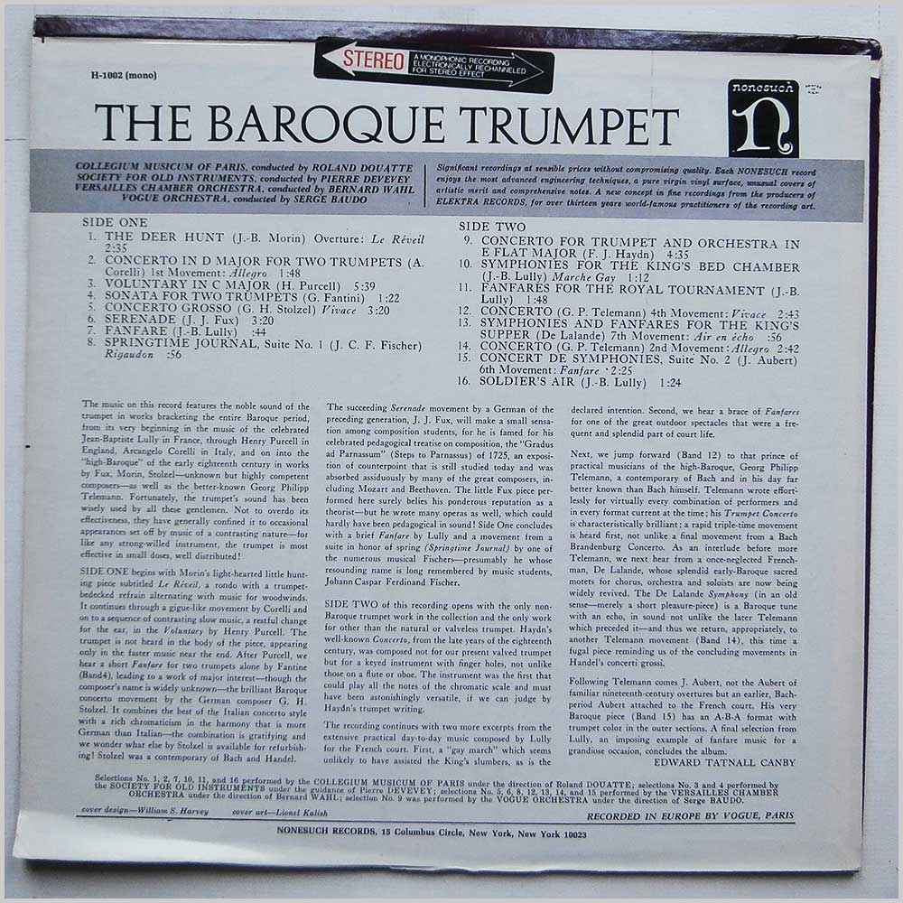 Various - The Baroque Trumpet (H-71002)