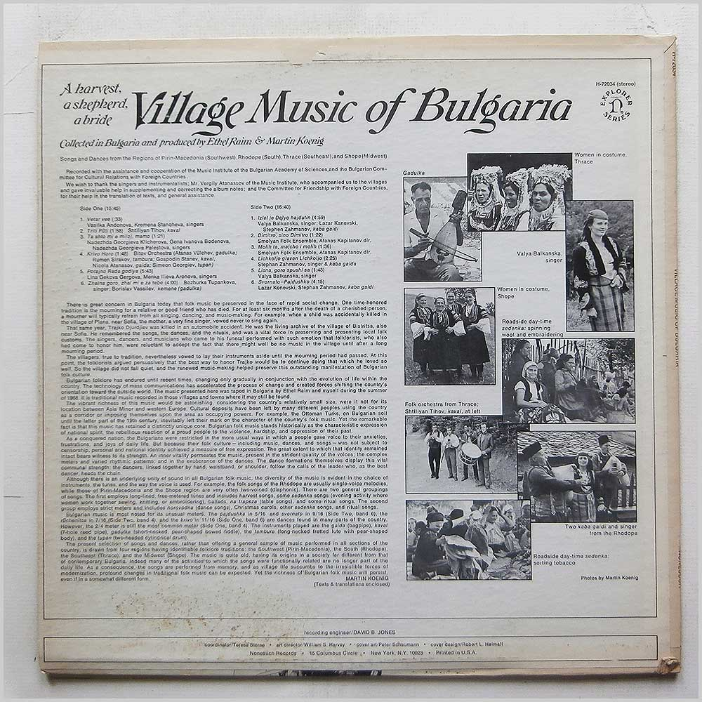 Various - Village Music Of Bulgaria (H-72034)
