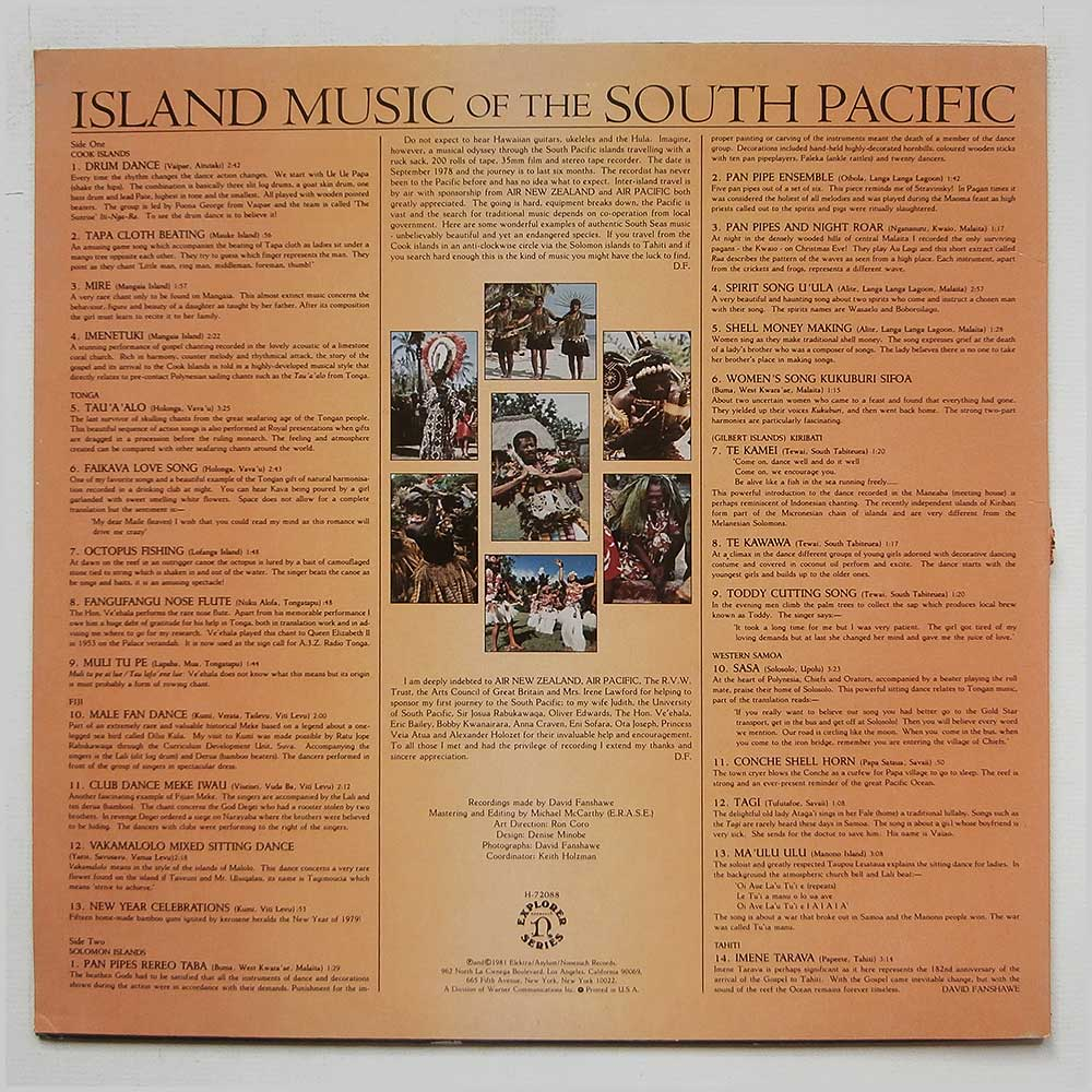 Various - Island Music Of The South Pacific (H-72088)