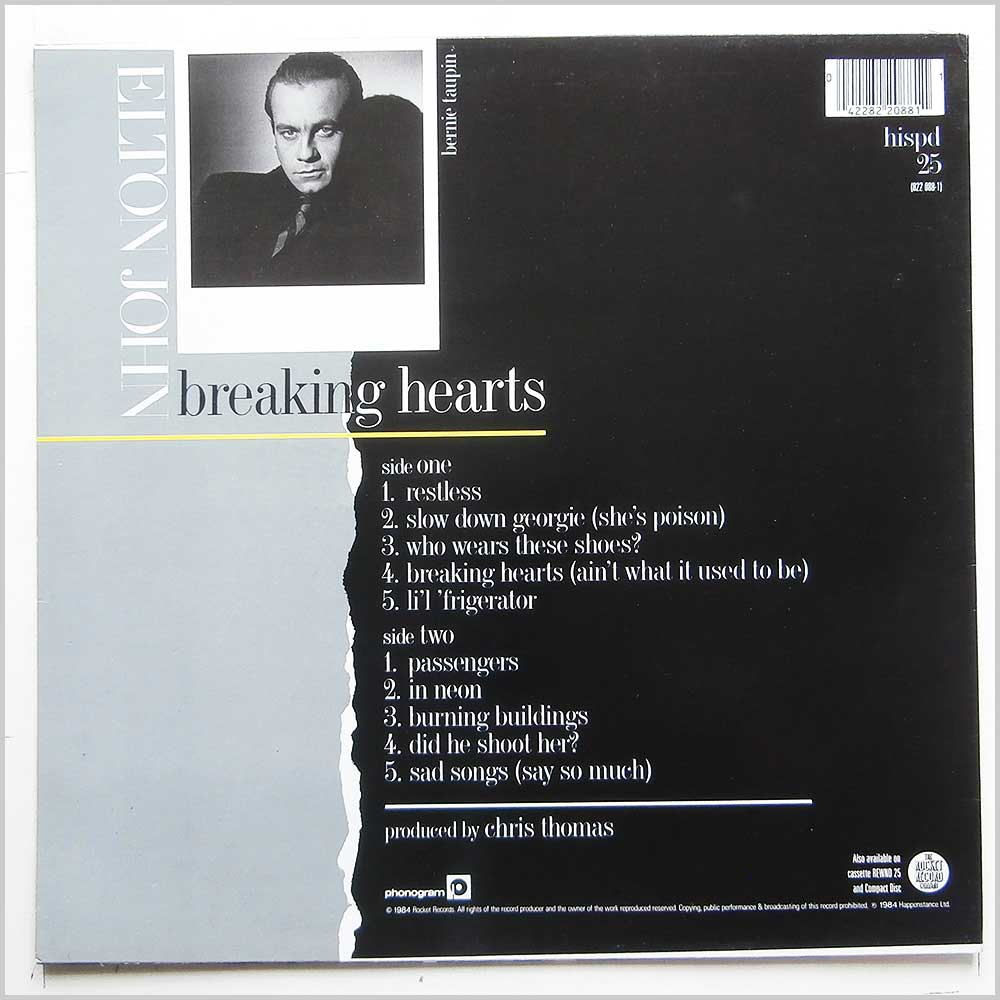 Elton John - Breaking Hearts (HISPD 25)