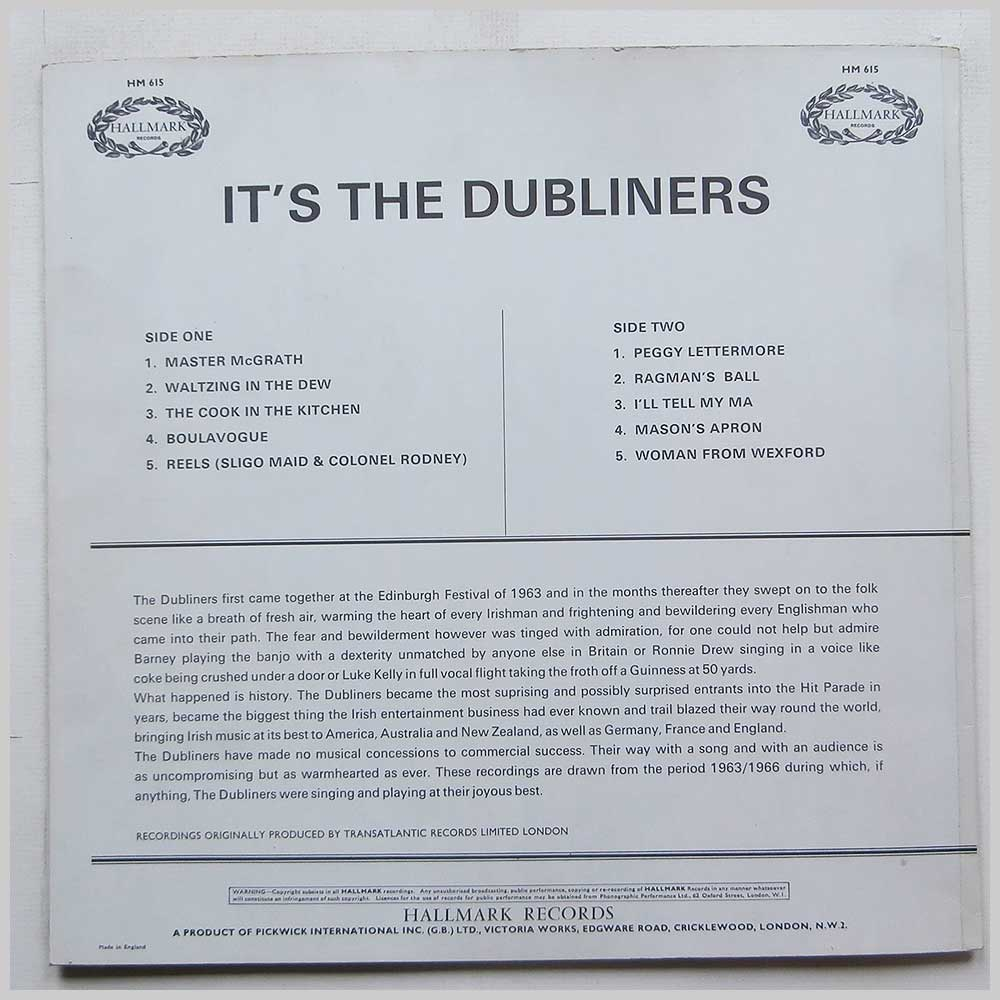 The Dubliners - It's The Dubliners (HM615)