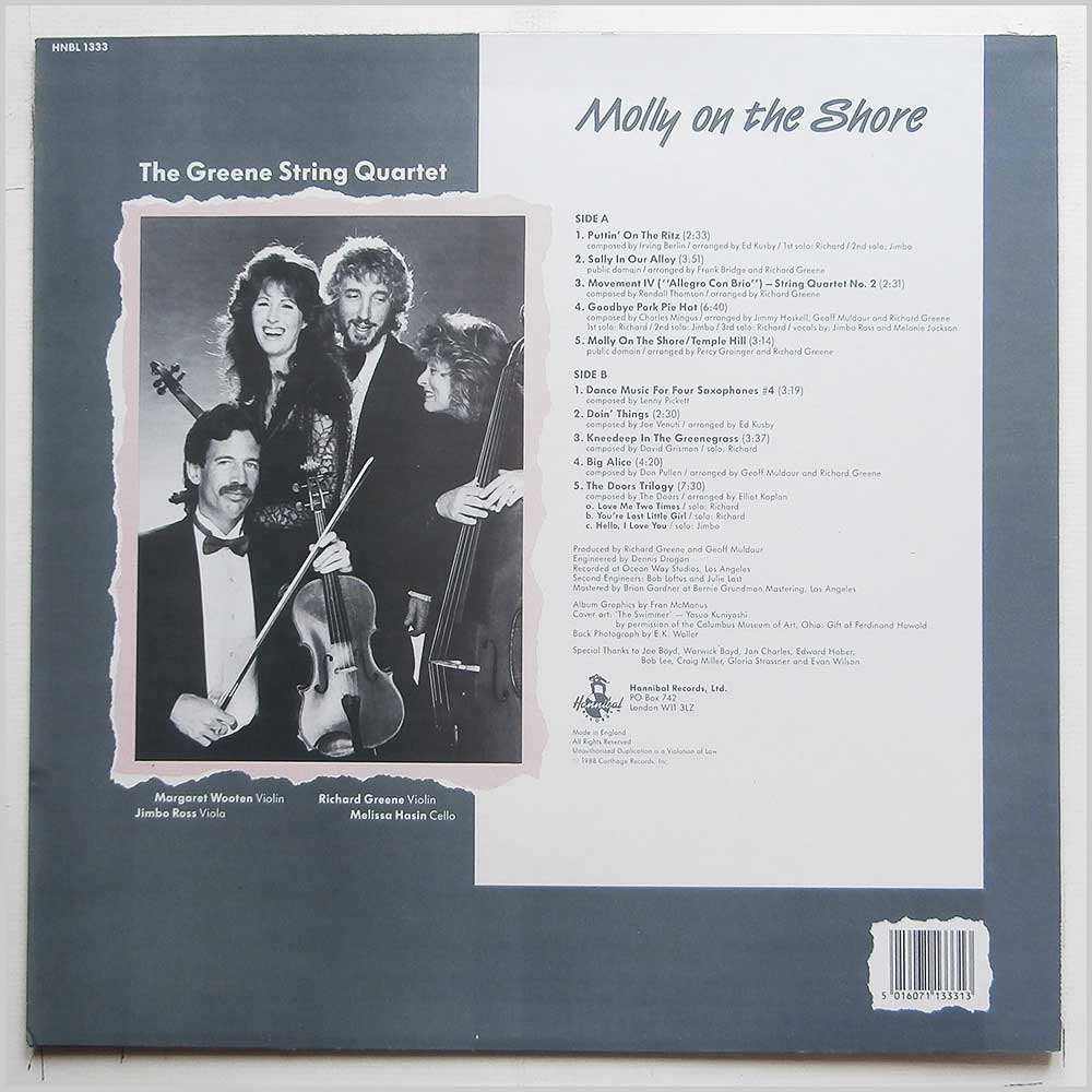 The Greene String Quartet - Molly On The Shore (HNBL 1333)