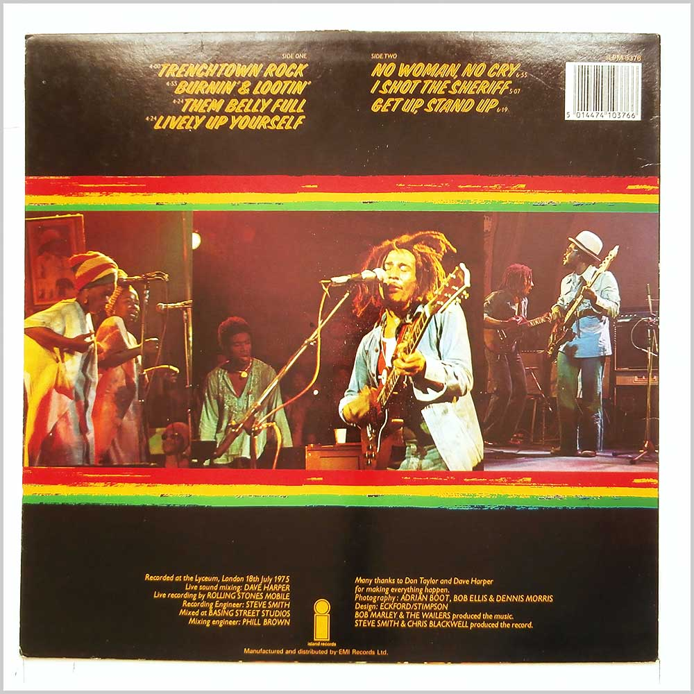Bob Marley and The Wailers - Live! (ILPM 9376)