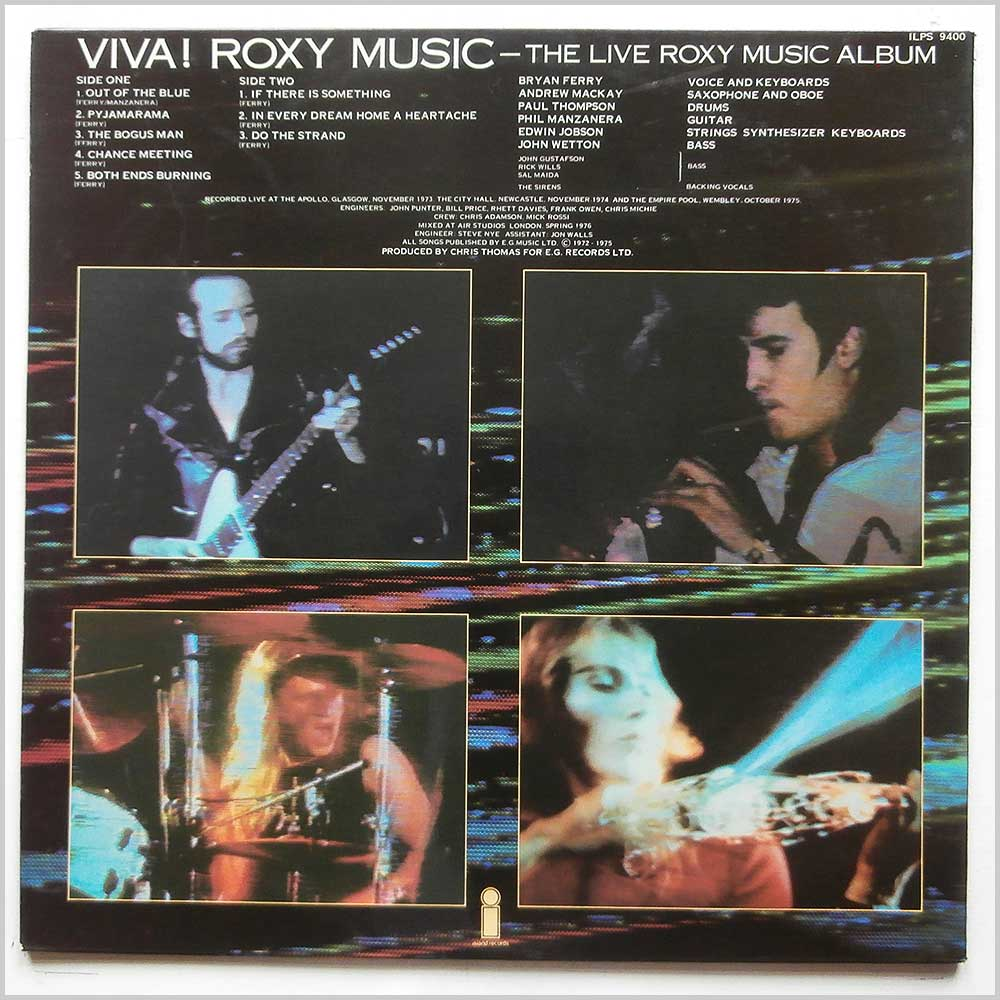 Roxy Music - Viva! Roxy Music (The Live Roxy Music Album) (ILPS 9400)