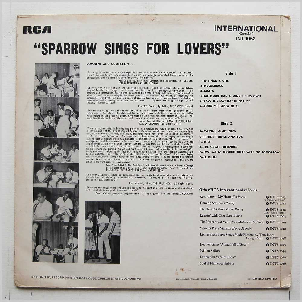 Sparrow - Calypso King (INT 1052)