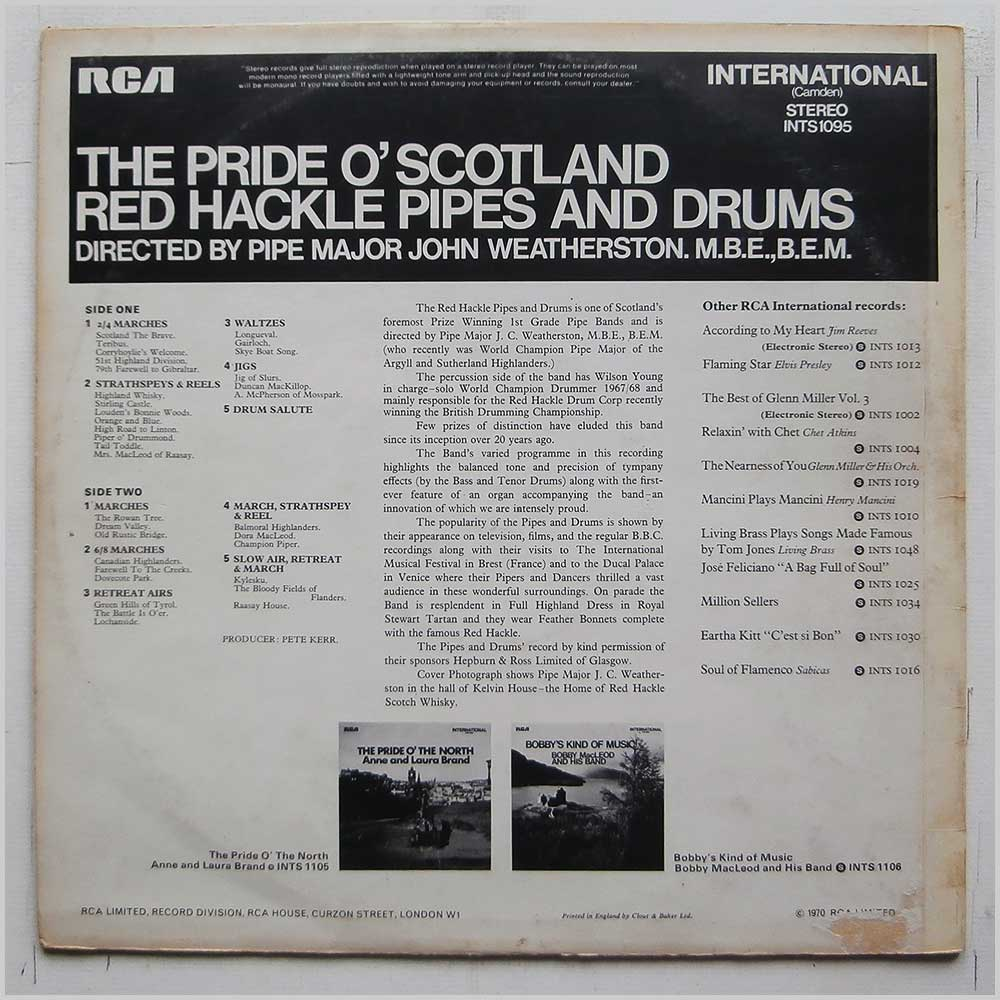 John Weatherston - The Pride O'Scotland Red Hackle Pipes And Drums (INTS 1095)