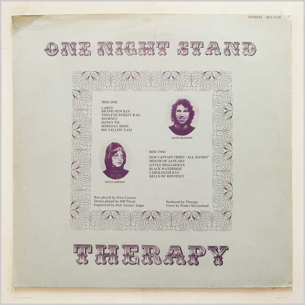 Therapy - One Night Stand (IRS 5124)