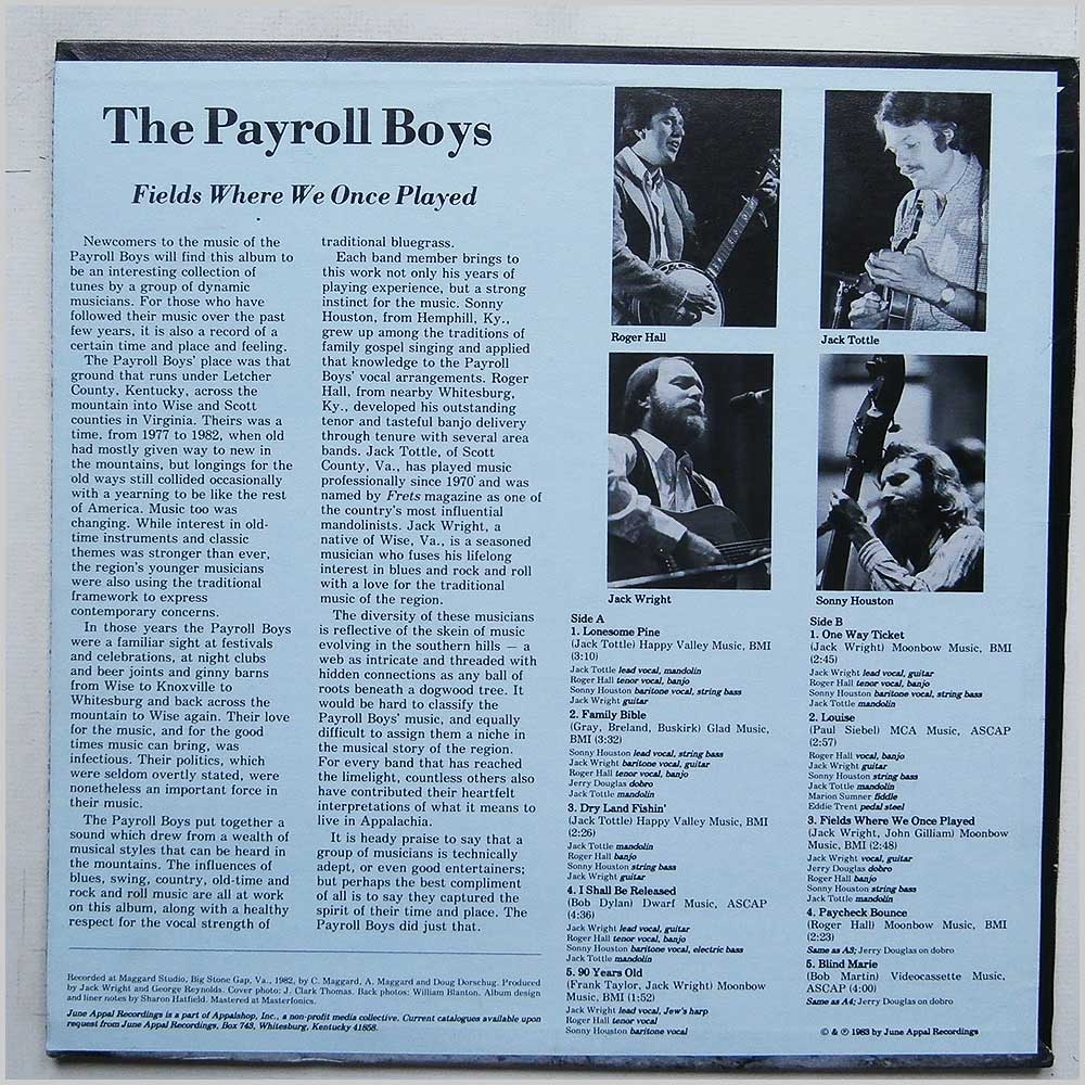 The Payroll Boys - Fields Where We Once Played (JA046 )