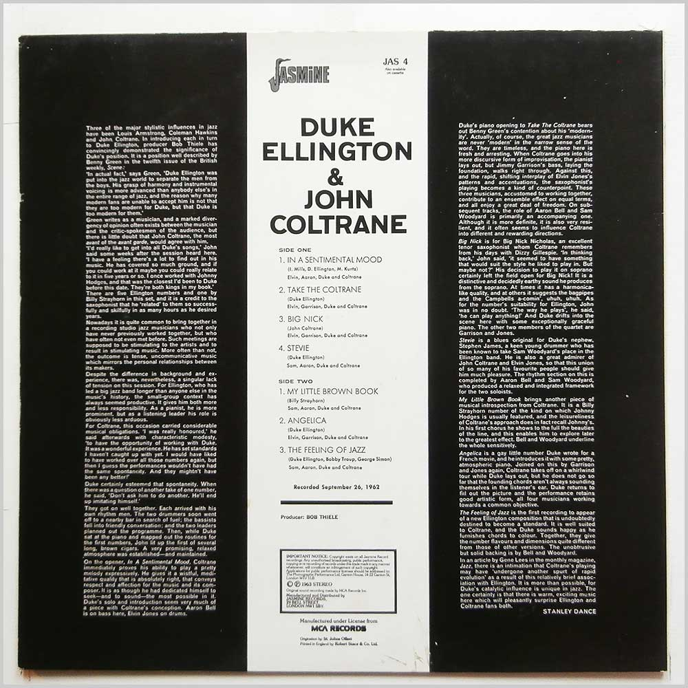 Duke Ellington, John Coltrane - Duke Ellington and John Colltrane (JAS 4)