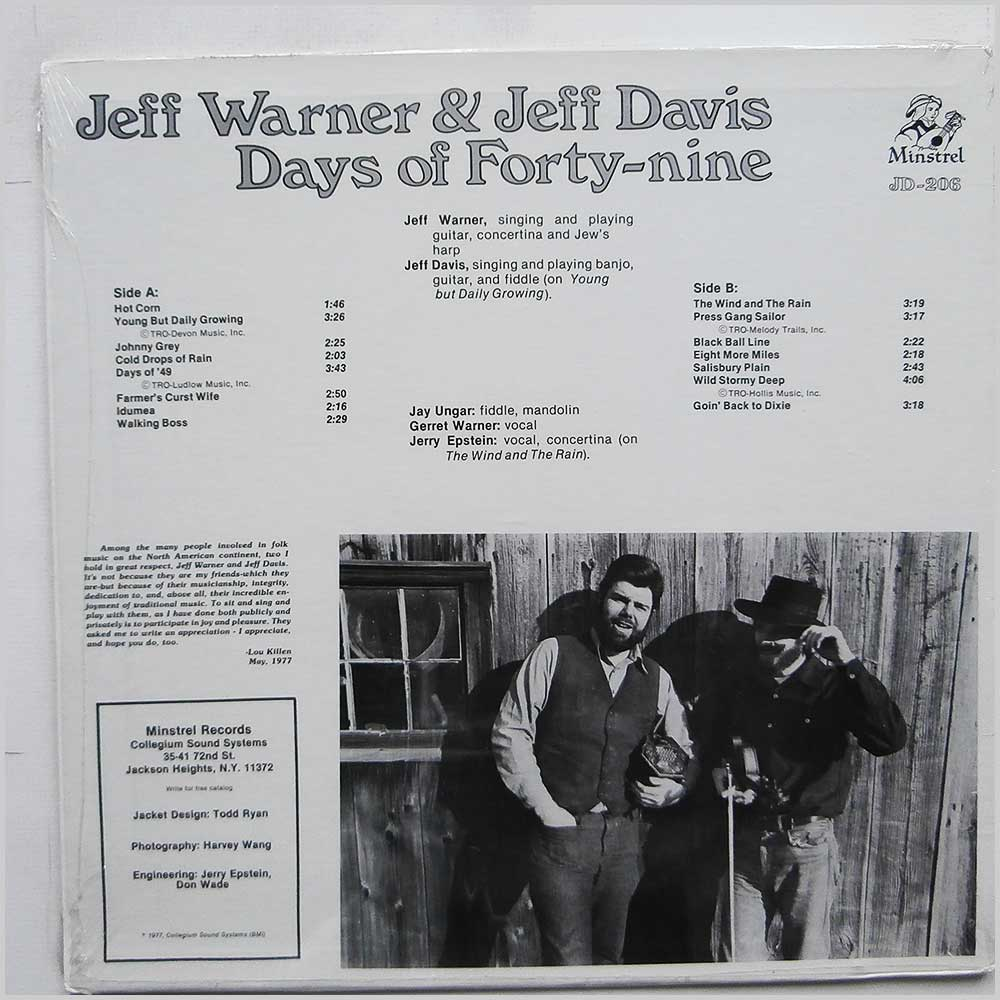 Jeff Warner and Jeff Davis - Days Of Forty-nine (JD-206)