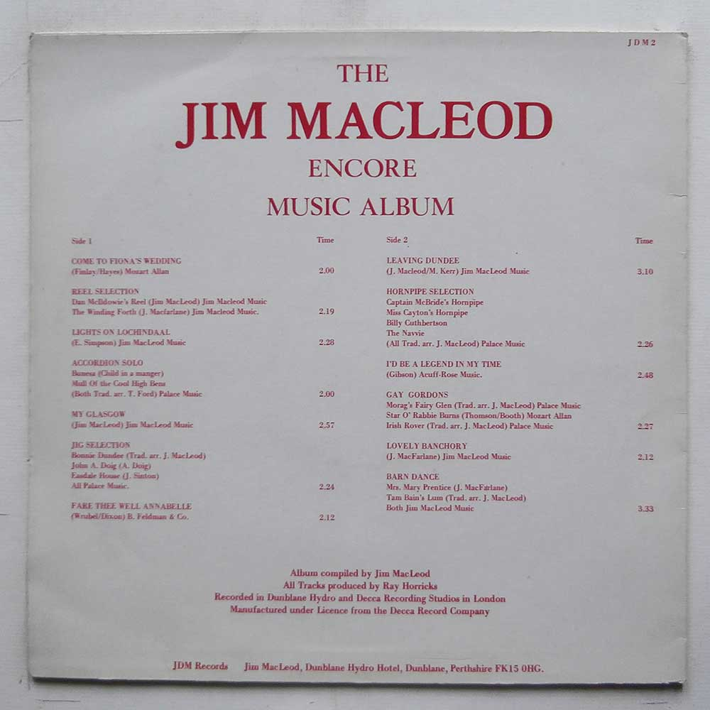Jim MacLeod - The Jim MacLeod Encore Music Album (JDM2)