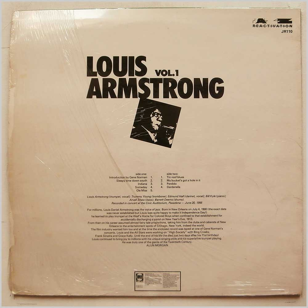 Louis Armstrong - Louis Armstrong Vol.1 (JR110)
