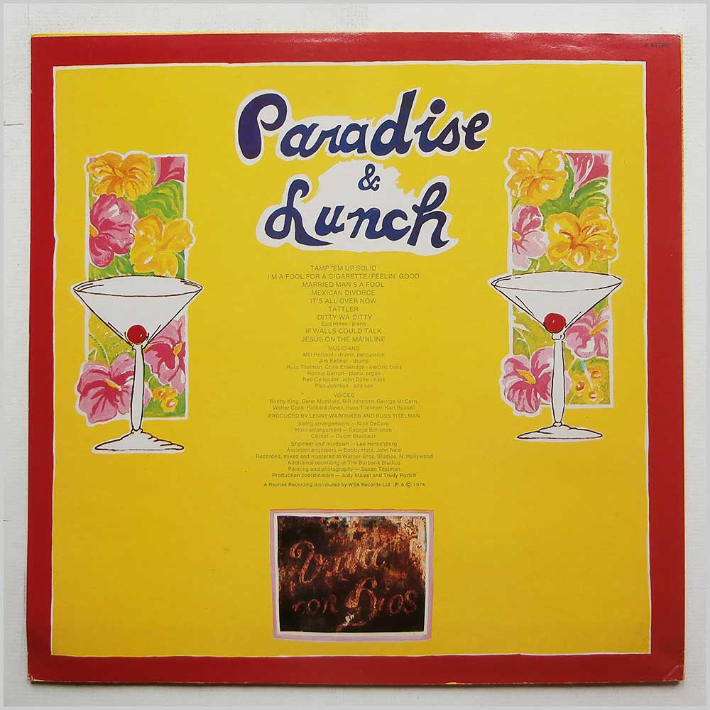 Ry Cooder - Paradise And Lunch (K 44260)