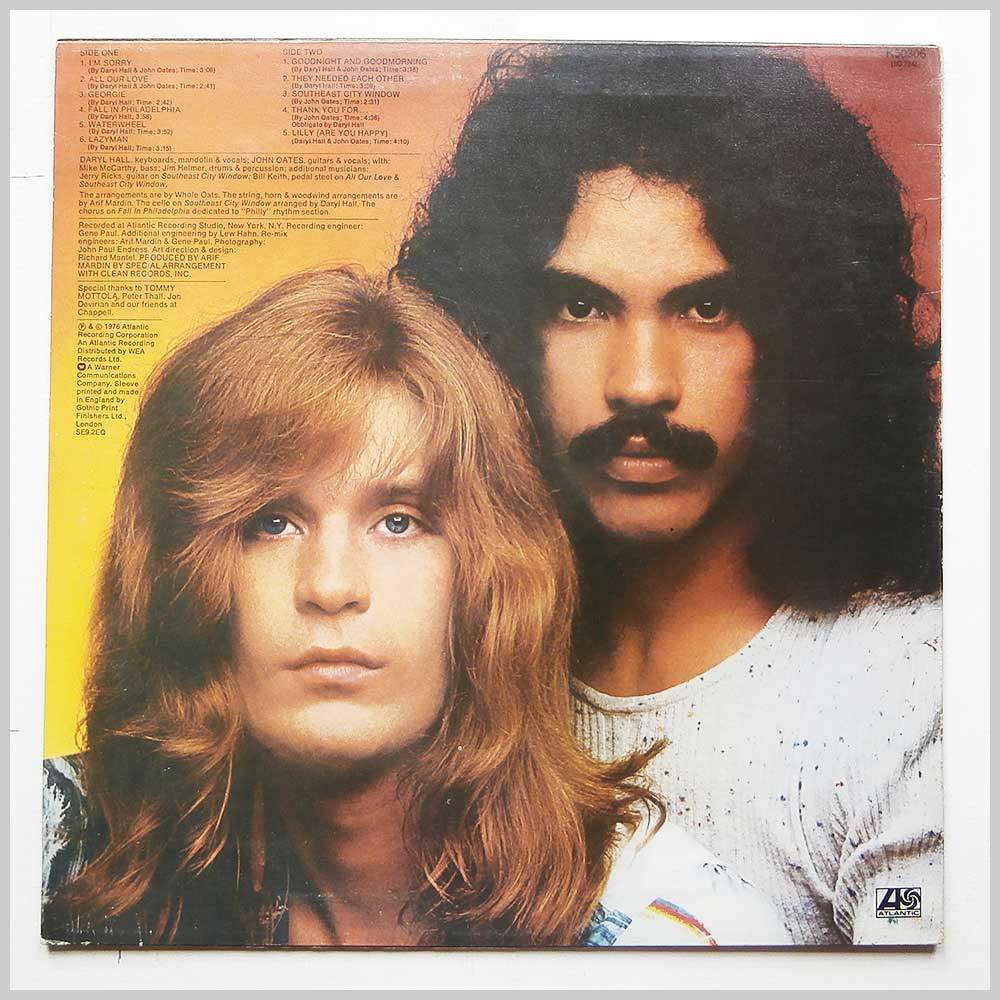 Daryl Hall and John Oates - Whole Oats (K50306)