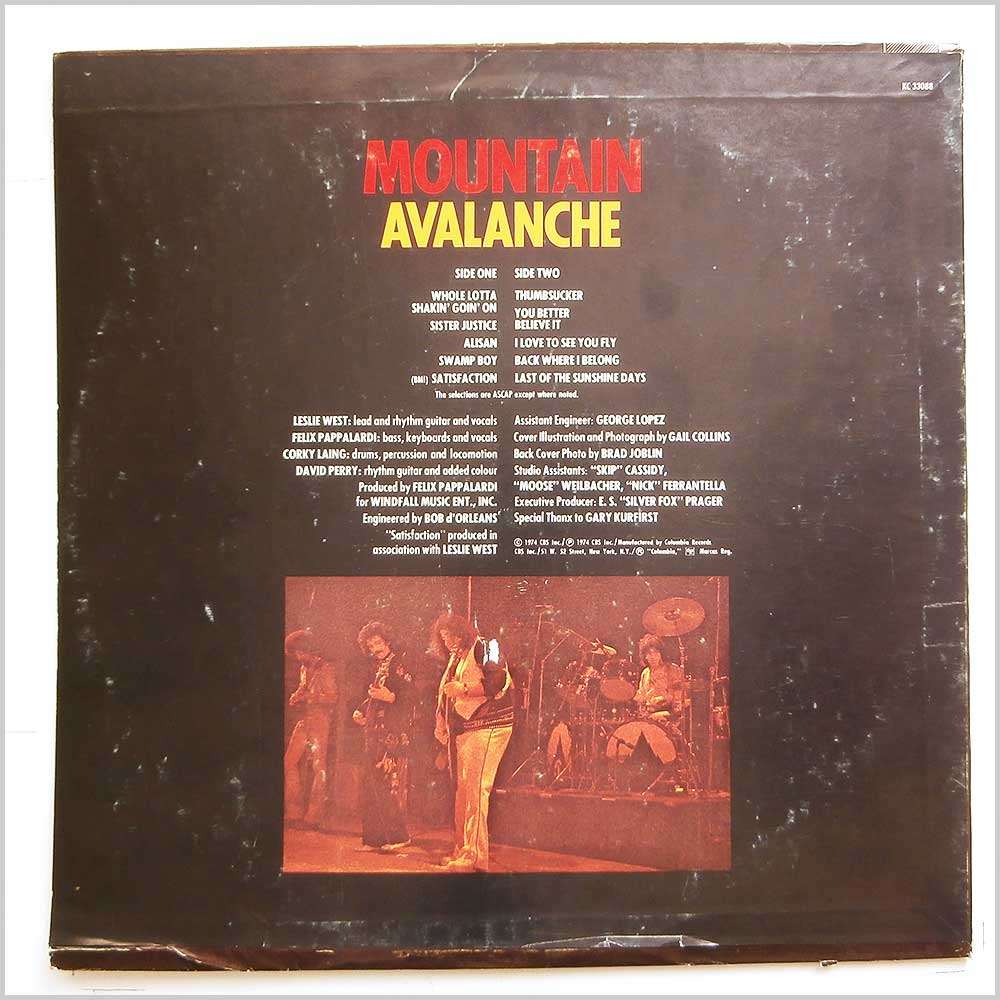 Mountain - Avalanche (KC 33088)