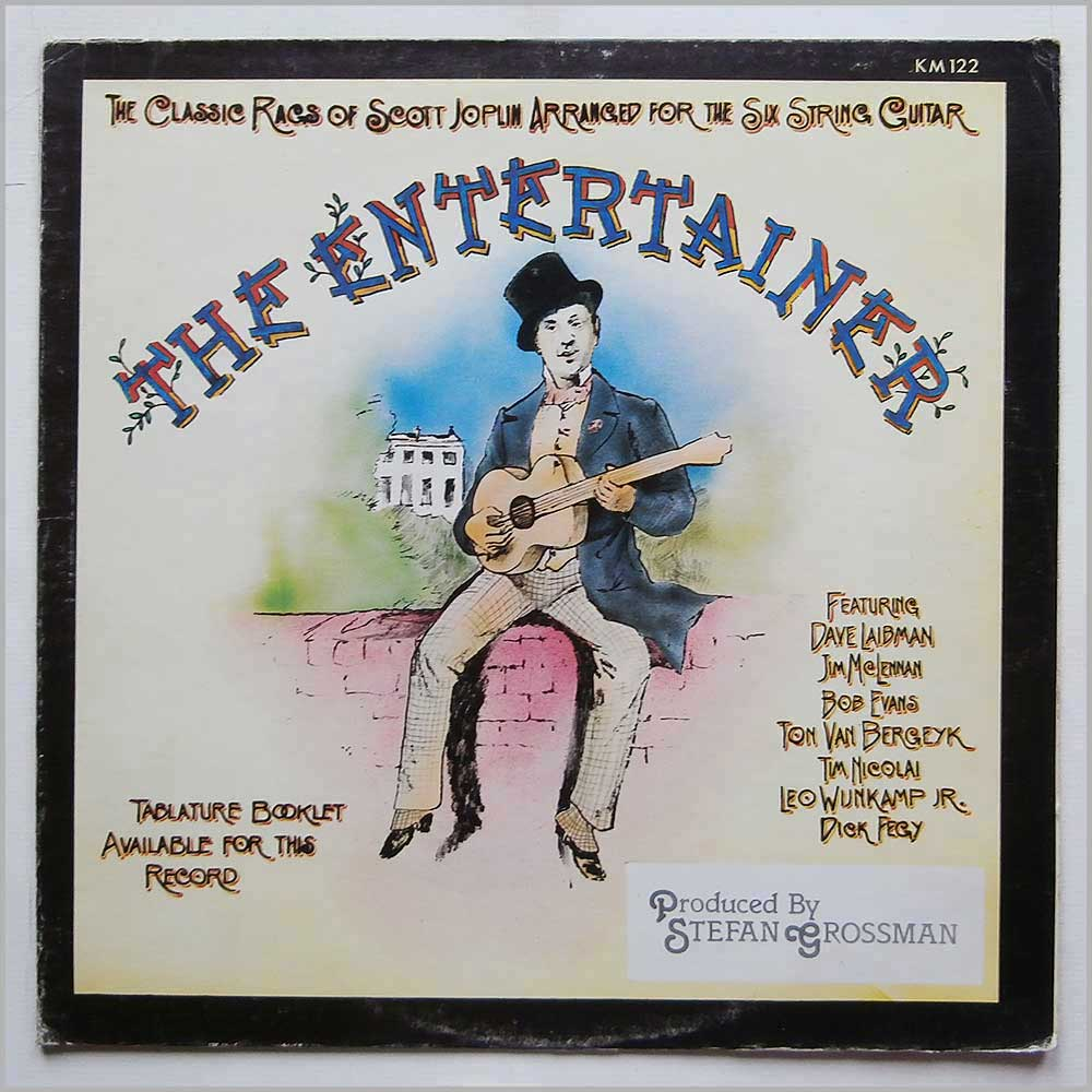 Stefan Grossman - The Entertainer, The Classic Rags Of Scott Joplin Arranged For The Six String Guitar (KM 122)