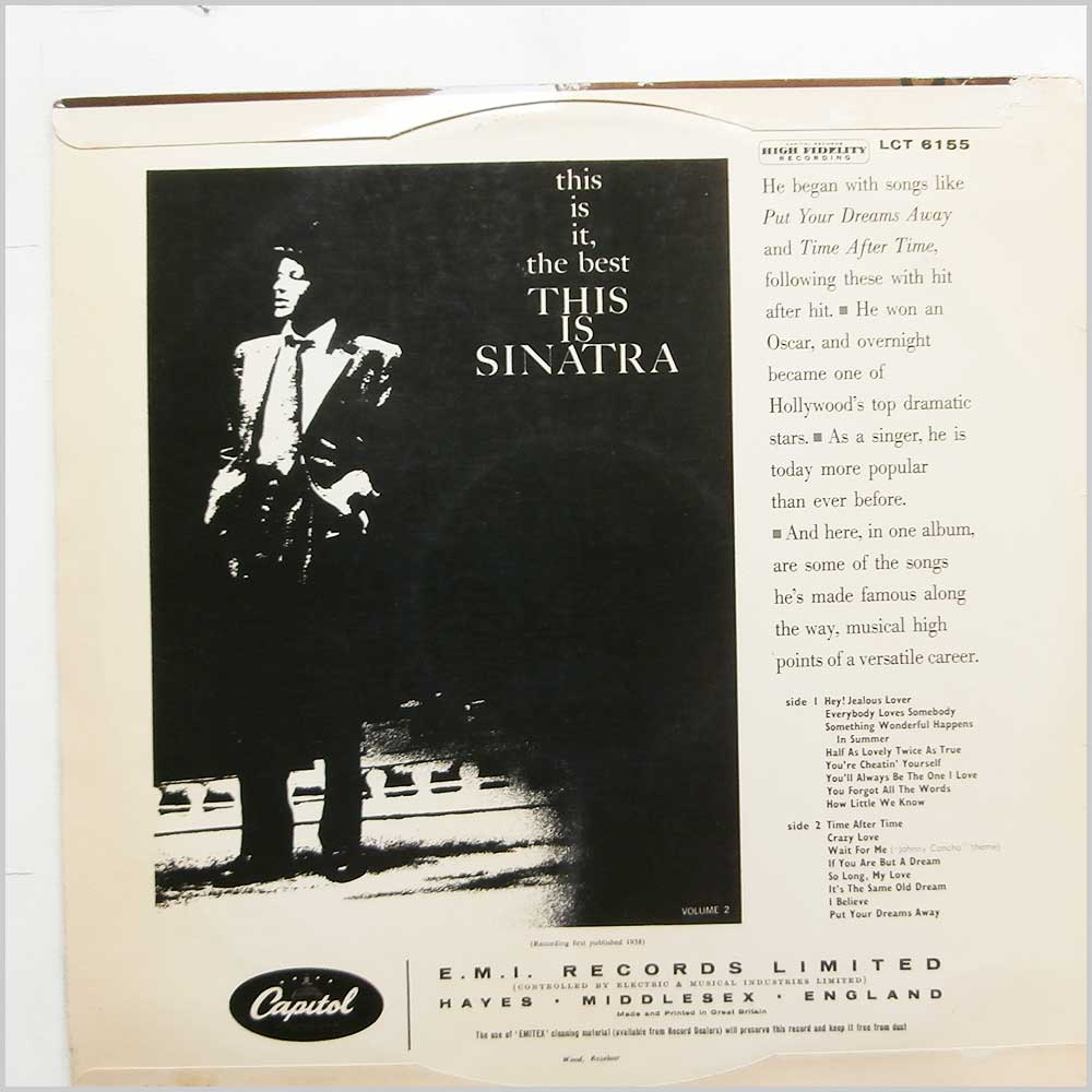 Frank Sinatra - This Is Sinatra Volume 2 (LCT 6155)