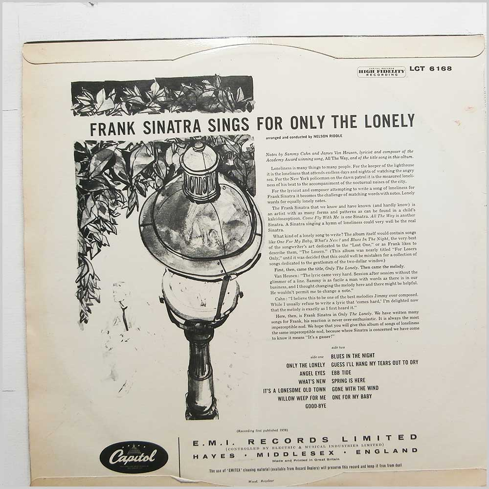 Frank Sinatra - Only The Lonely (LCT 6168)
