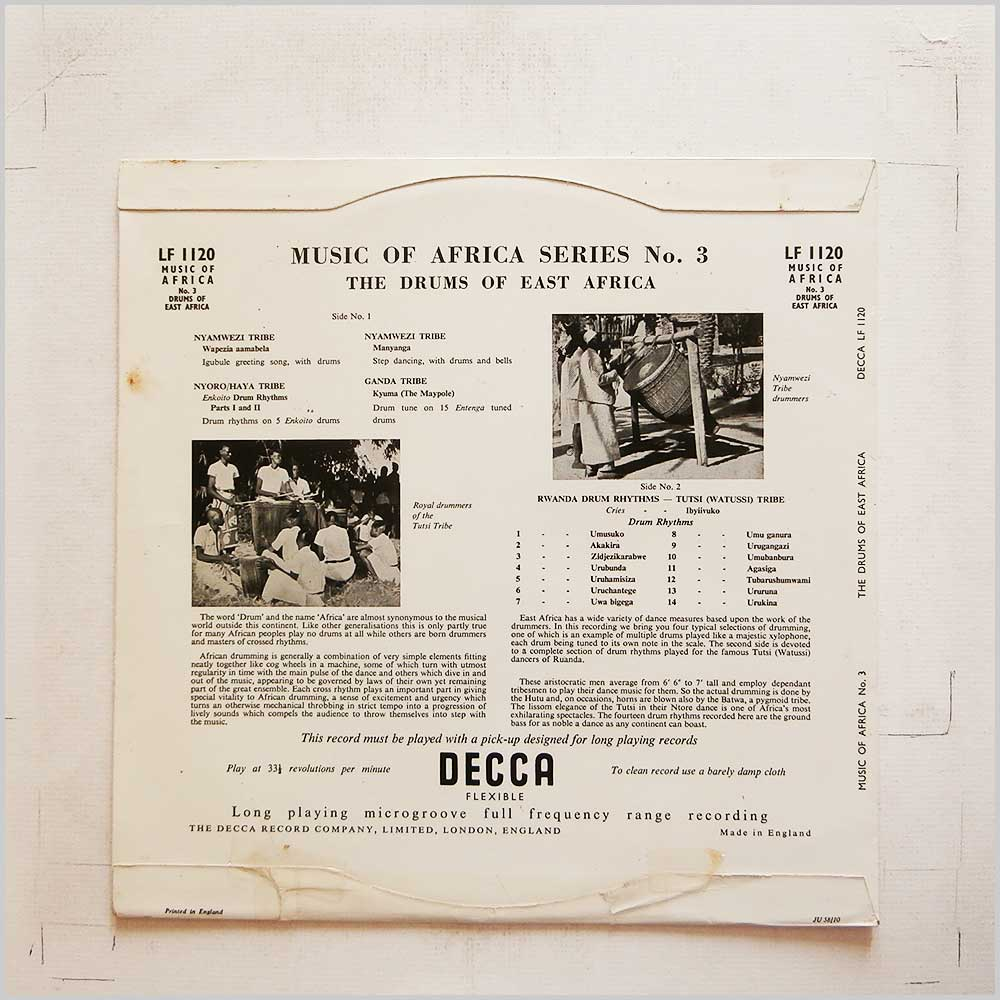 Various - Music of Africa Series: No.3 Drums Of East Africa (LF 1120)