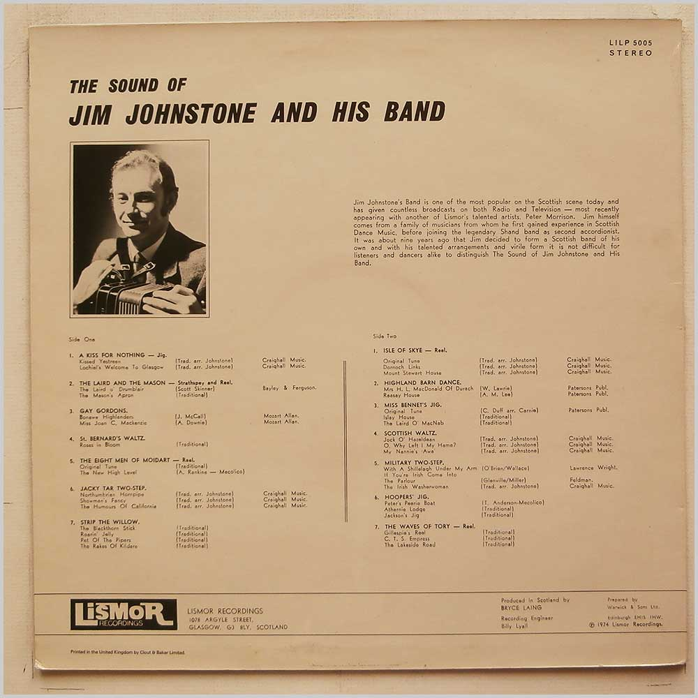 Jim Johnstone and His Band - The Sound Of Jim Johnstone and His Band (LILP 5005)