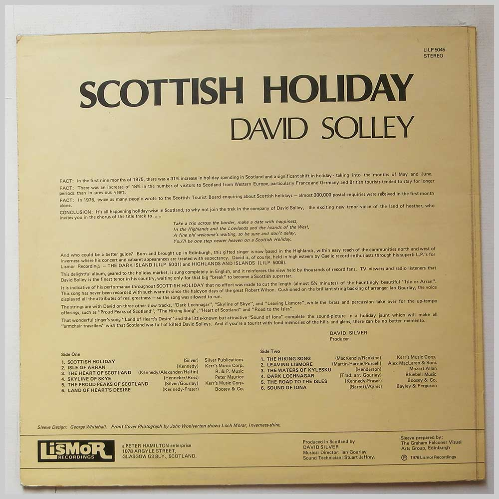 David Solley - Scottish Holiday (LILP 5045)