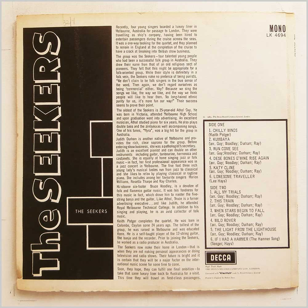 The Seekers - The Seekers (LK 4694)