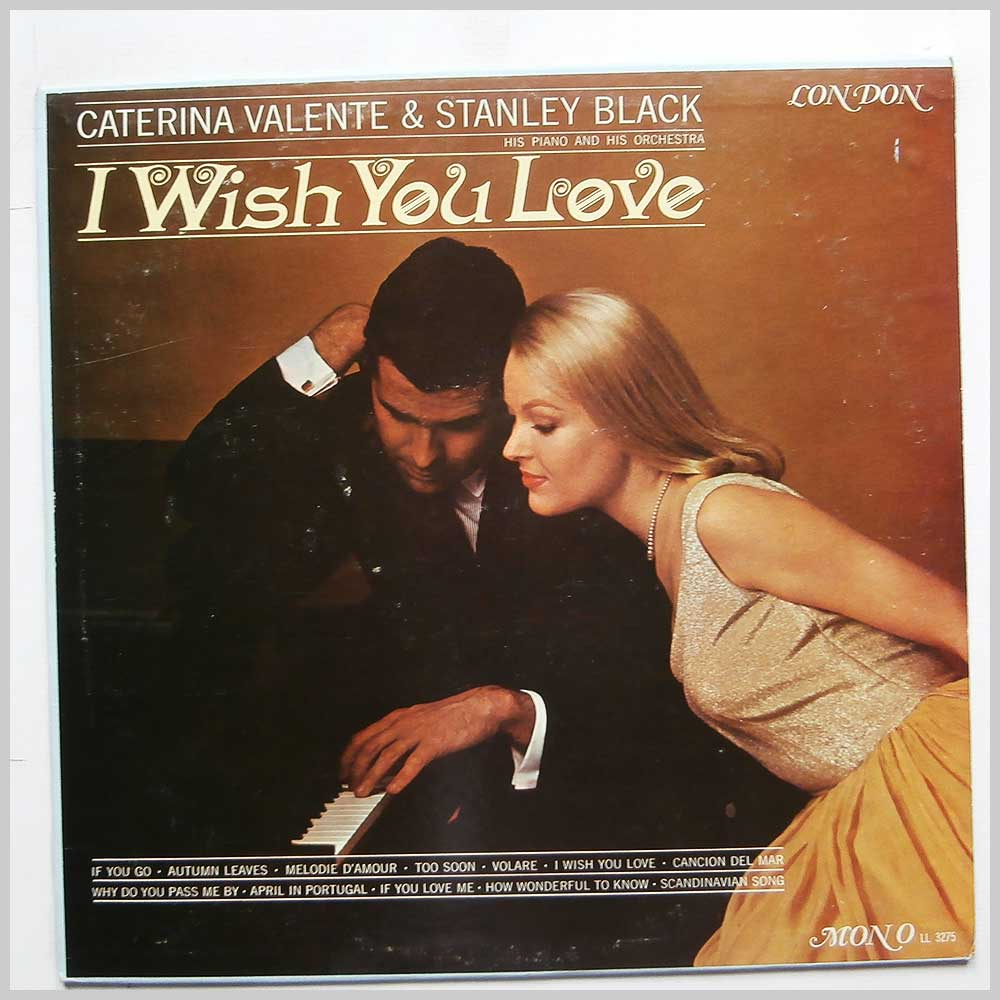 Caterina Valente with Stanley Black and His Orchestra - I Wish You Love (LL 3275)