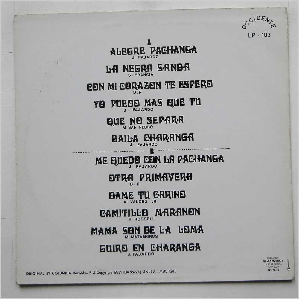 Fajardo And His Orchestra - Mister Pachanga (LP-103)