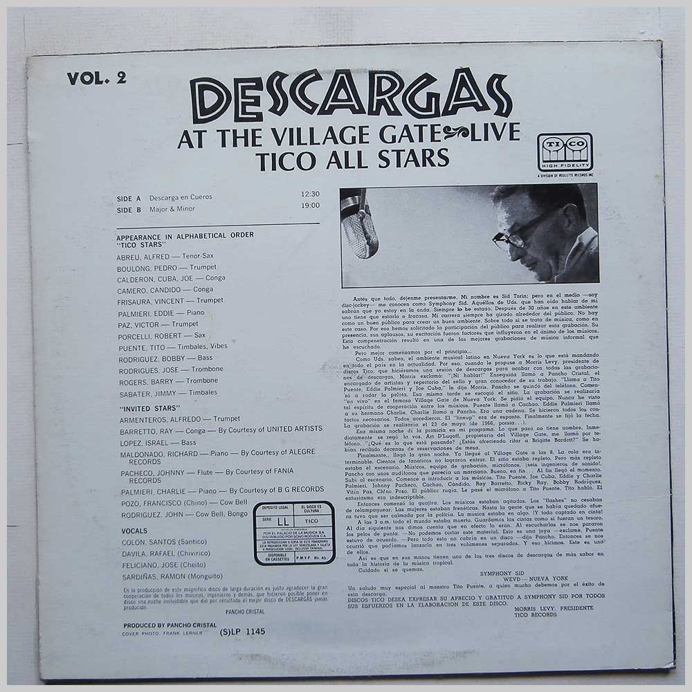 Tico All Stars - Descargas At The Village Gate Live Vol. 2 (LP 1145)