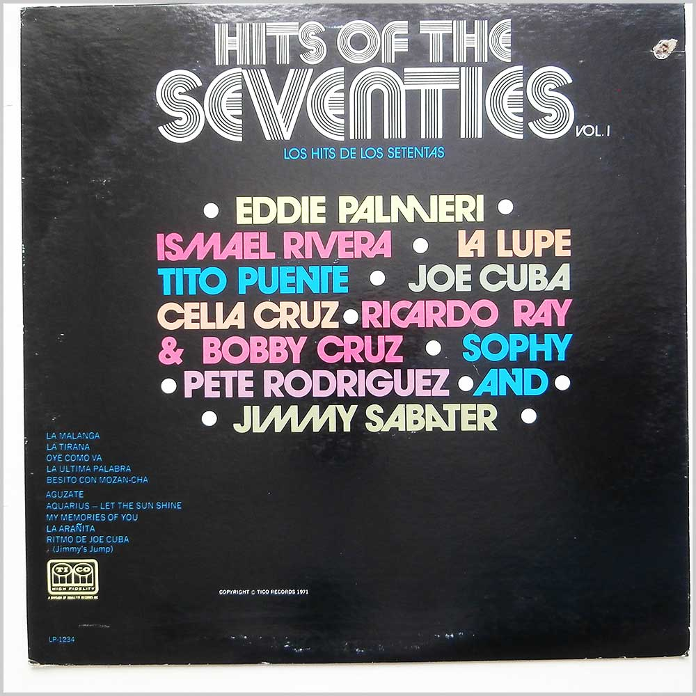 Various - Hits Of The Seventies Vol. 1 (LP-1234)