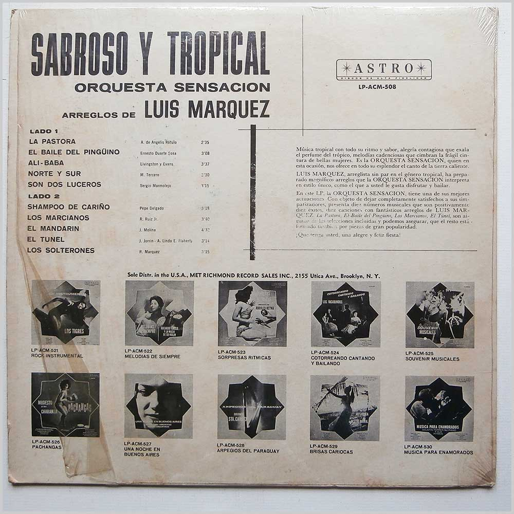 Orquesta Sensacion - Sabroso Y Tropical (LP-ACM-508)