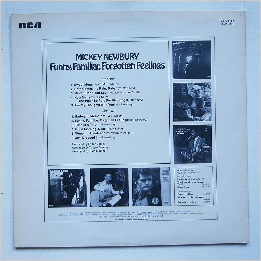 Mickey Newbury - Funny, Familiar, Forgotten Feelings (LSA 3157)