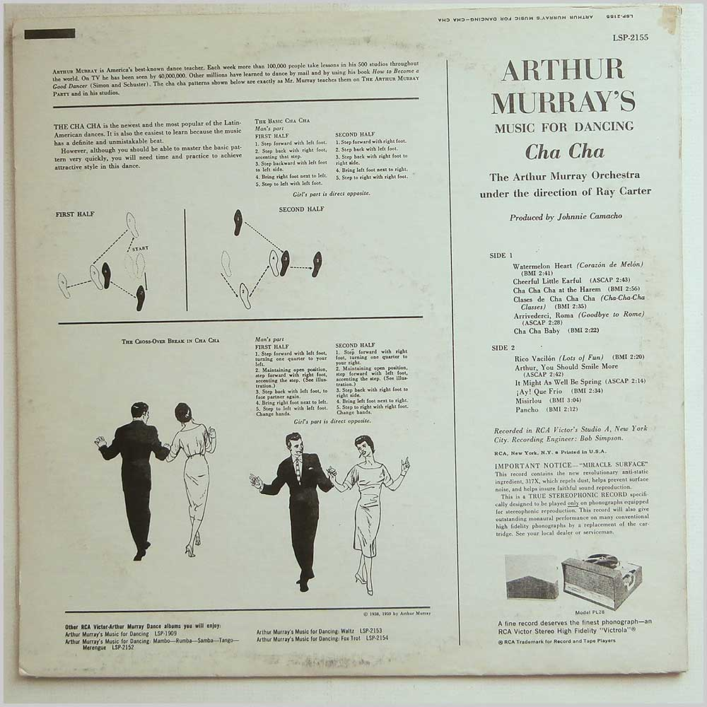 The Arthur Murray Orchestra - Arthur Murray's Music For Dancing: Cha Cha (LSP-2155)
