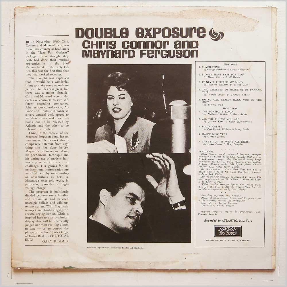 Chris Connor and Maynard Ferguson - Double Exposure (LTZ-K 15229)