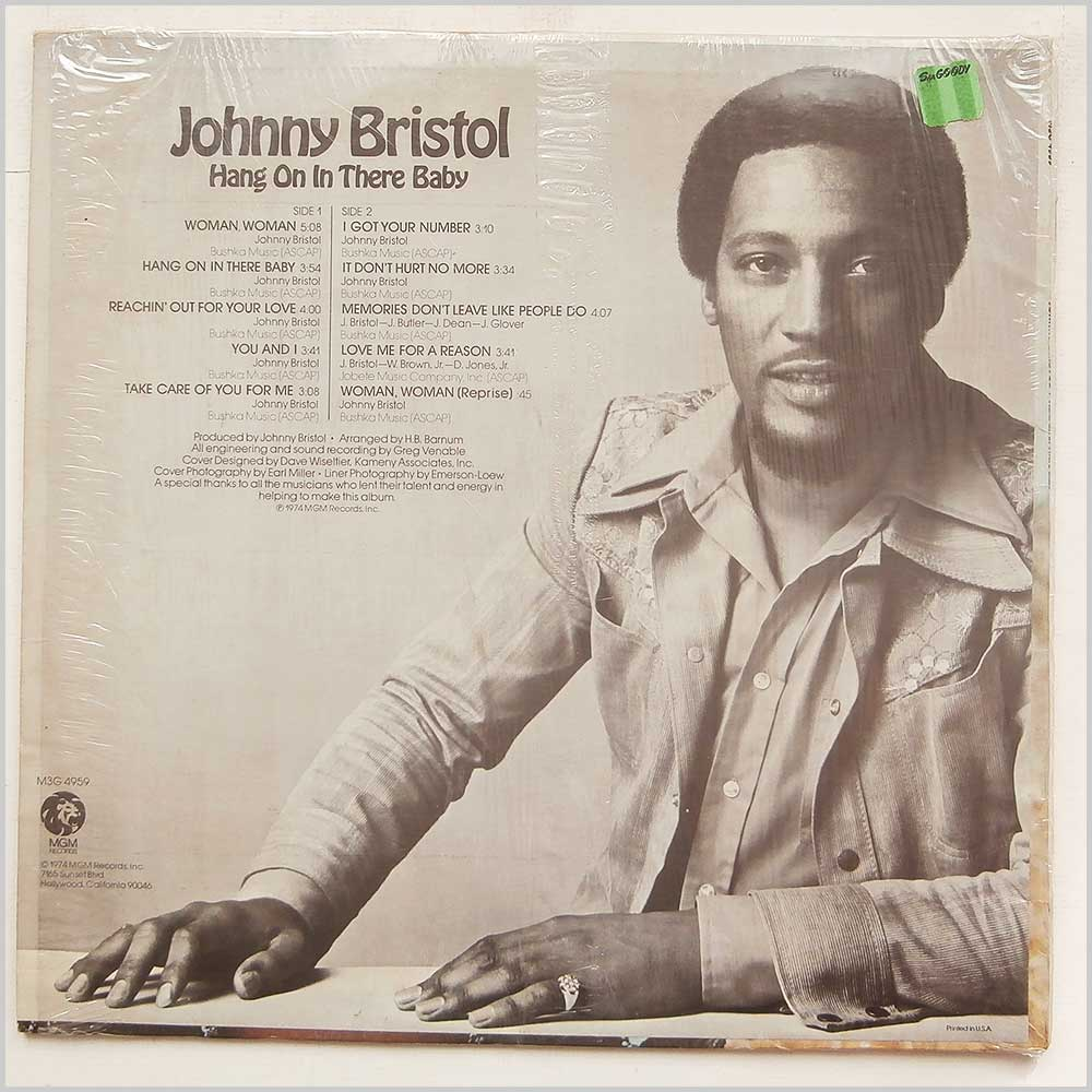 Johnny Bristol - Hang On In There Baby (M3G 4959)