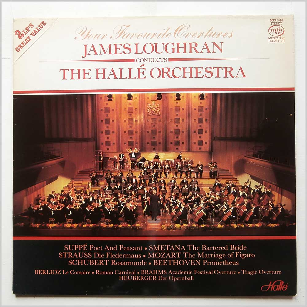 James Loughran, Halle Orchestra - Your Favourite Overtures (MFP 1026)