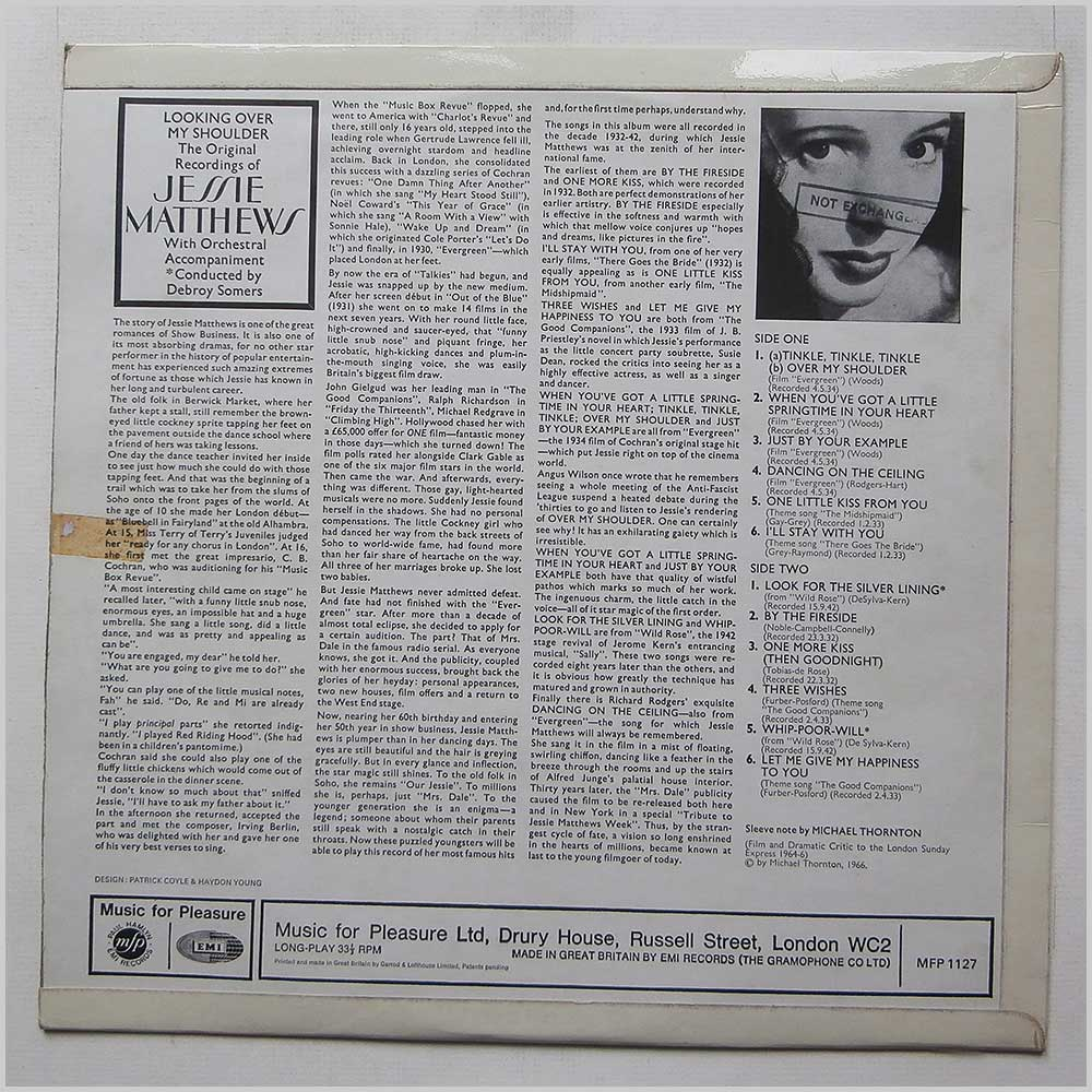 Jessie Matthews - Looking Over My Shoulder, The Original Recordings Of Jessie Matthews (MFP 1127)
