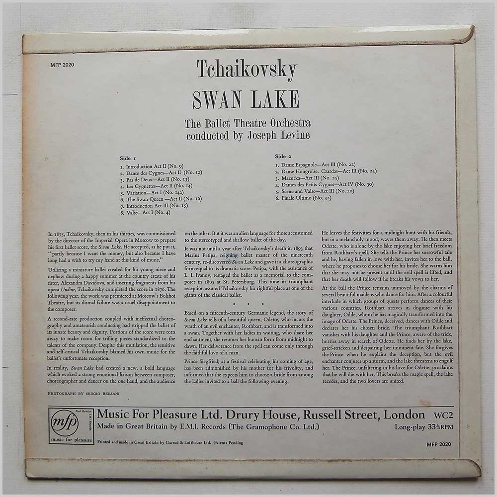 Joseph Levine, Ballet Theatre Orchestra - Tchaikovsky: Selections From Swan Lake (MFP 2020)