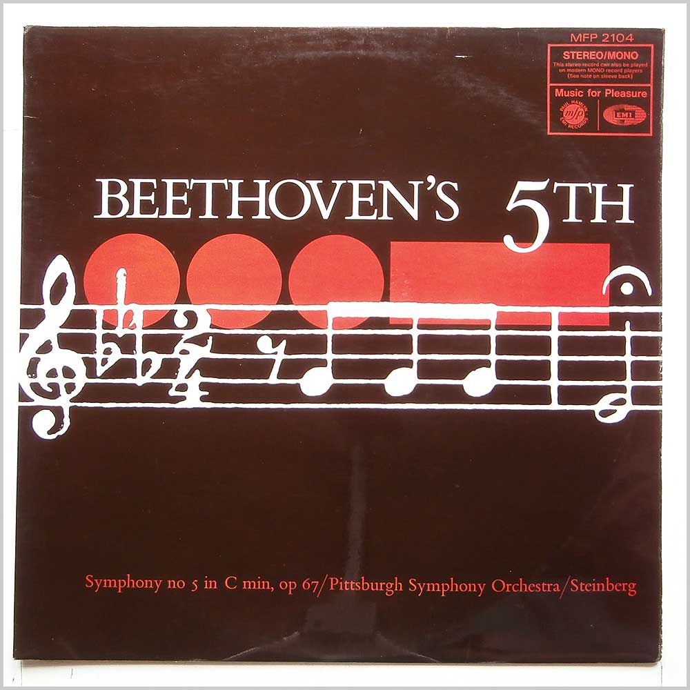 Pittsburgh Symphony Orchestra, William Steinberg - Beethoven's 5th: Symphony No 5 In C Min, Op 67 (MFP 2104)