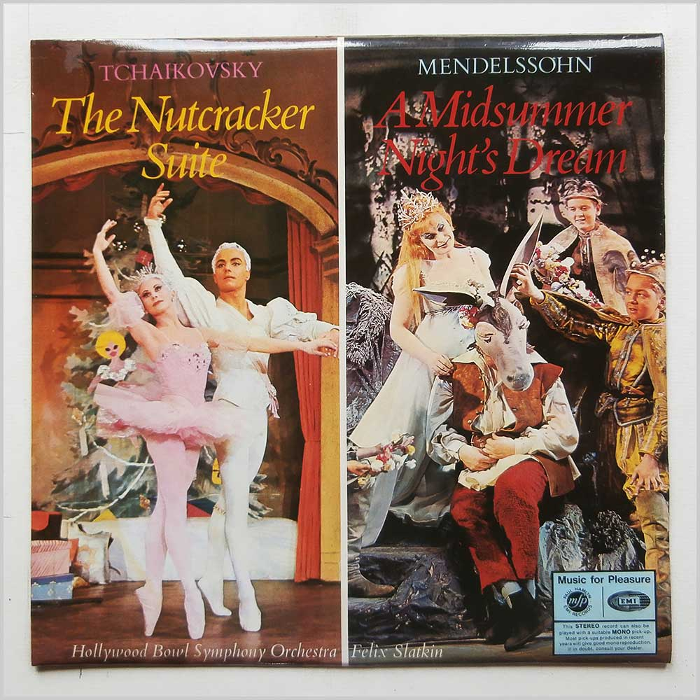 Felix Slatkin, Hollywood Bowl Symphony Orchestra - Tchaikovsky: The Nutcracker Suite, Mendelssohn: A Midsummer Night's Dream (MFP 2113)