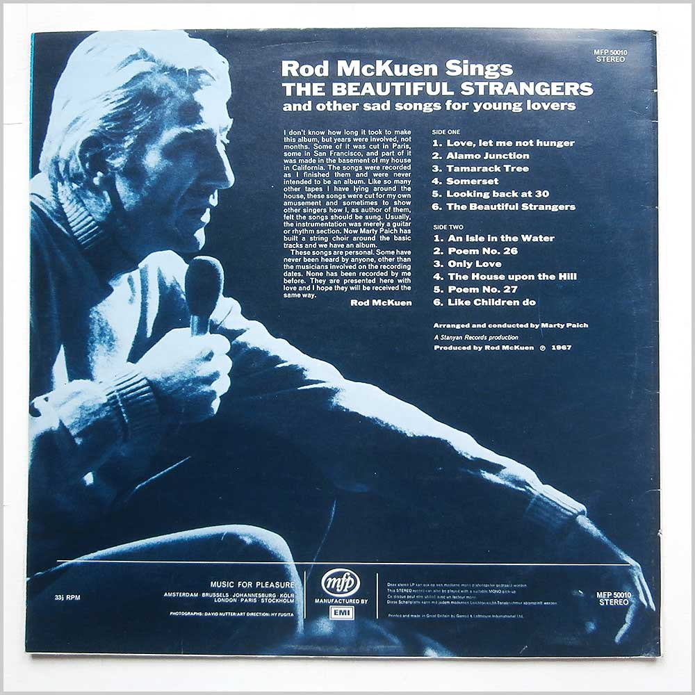 Rod McKuen - The Beautiful Strangers (MFP 50010)