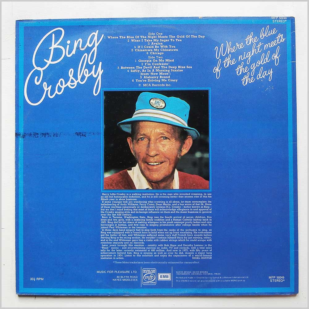Bing Crosby - Where The Blue Of The Night Meets The Gold Of The Day (MFP 501249)