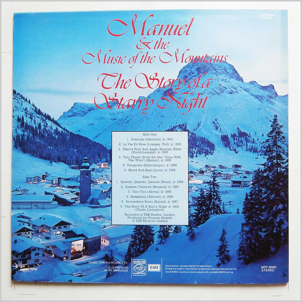 Manuel and The Music Of The Mountains - The Story Of A Starry Night (MFP 50340)
