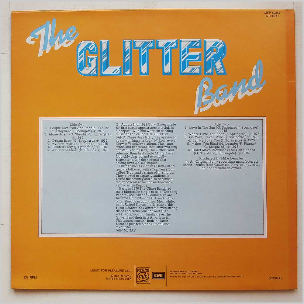 The Glitter Band - People Like You And People Like Me (MFP 50534)