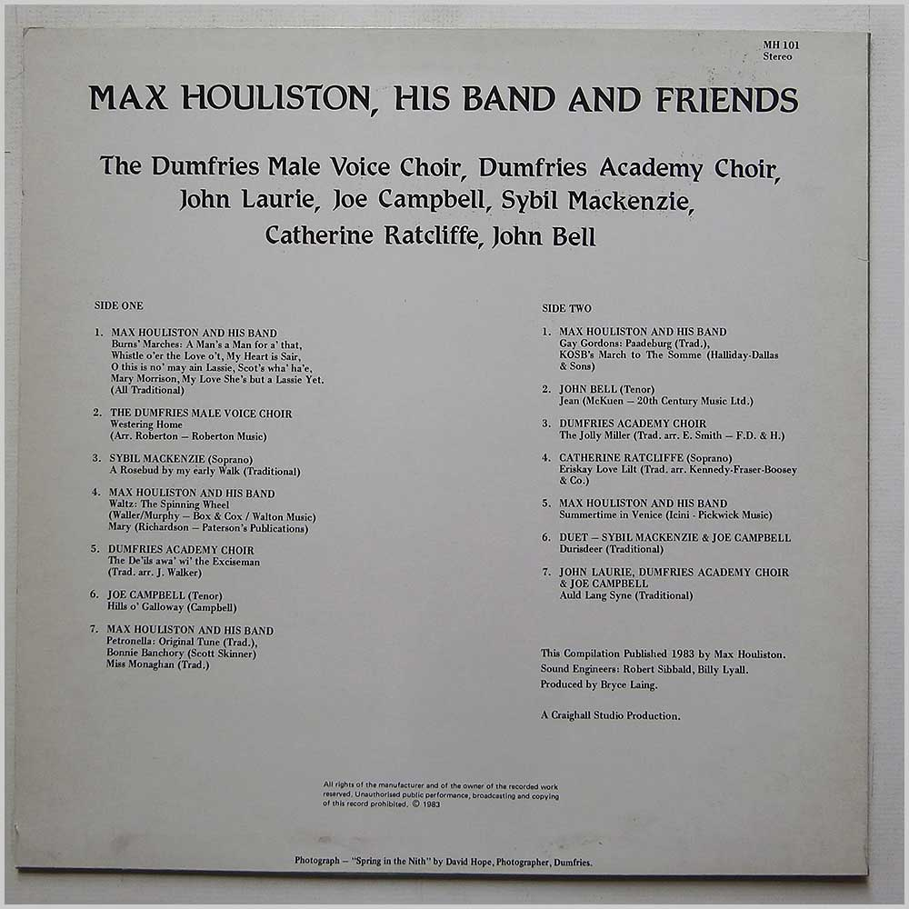 Max Houliston - Max Houliston, His Band And Friends (MH 101)