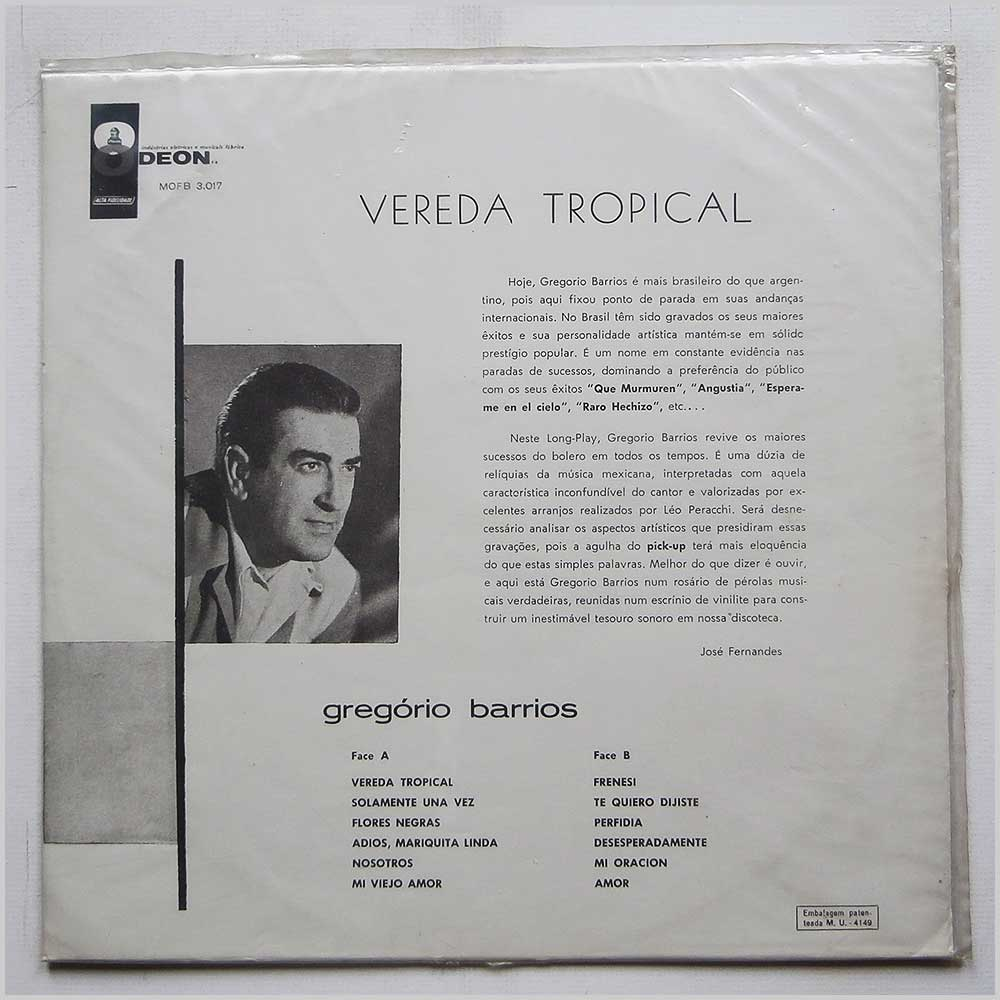 Gregorio Barrios - Vereda Tropical (MOFB-3017)