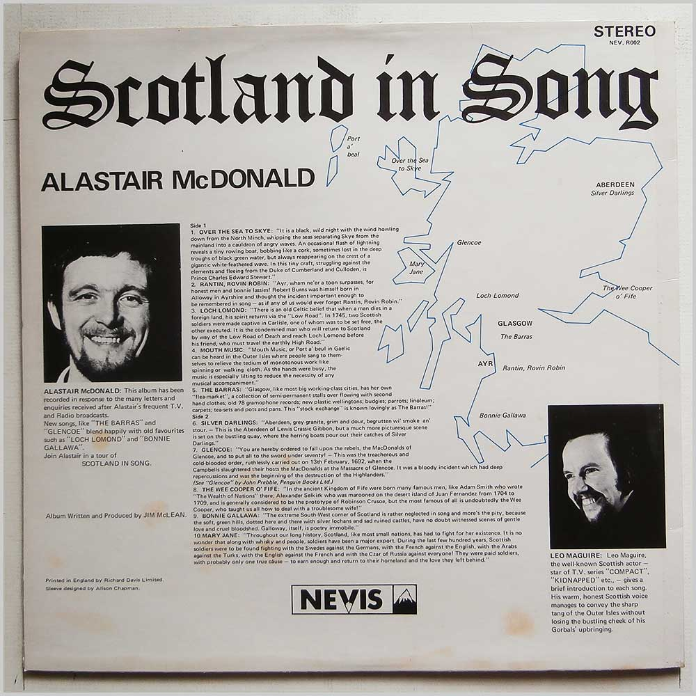 Alastair McDonald with Leo Maguire - Scotland In Song (NEVR 002)