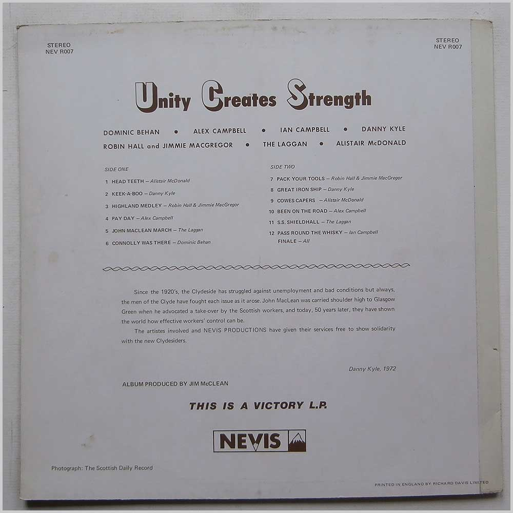 Various - Unity Creates Strength (NEV R007)