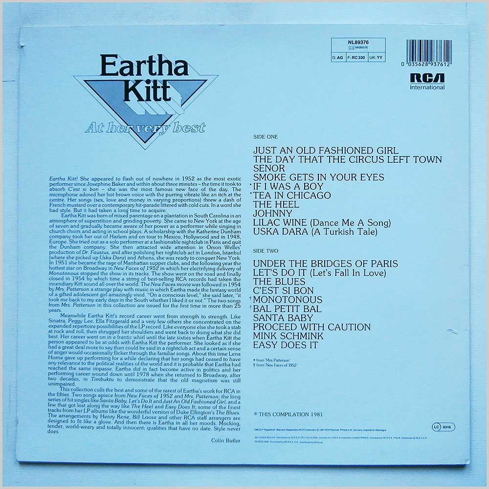 Eartha Kitt - At Her Very Best (NL89376)