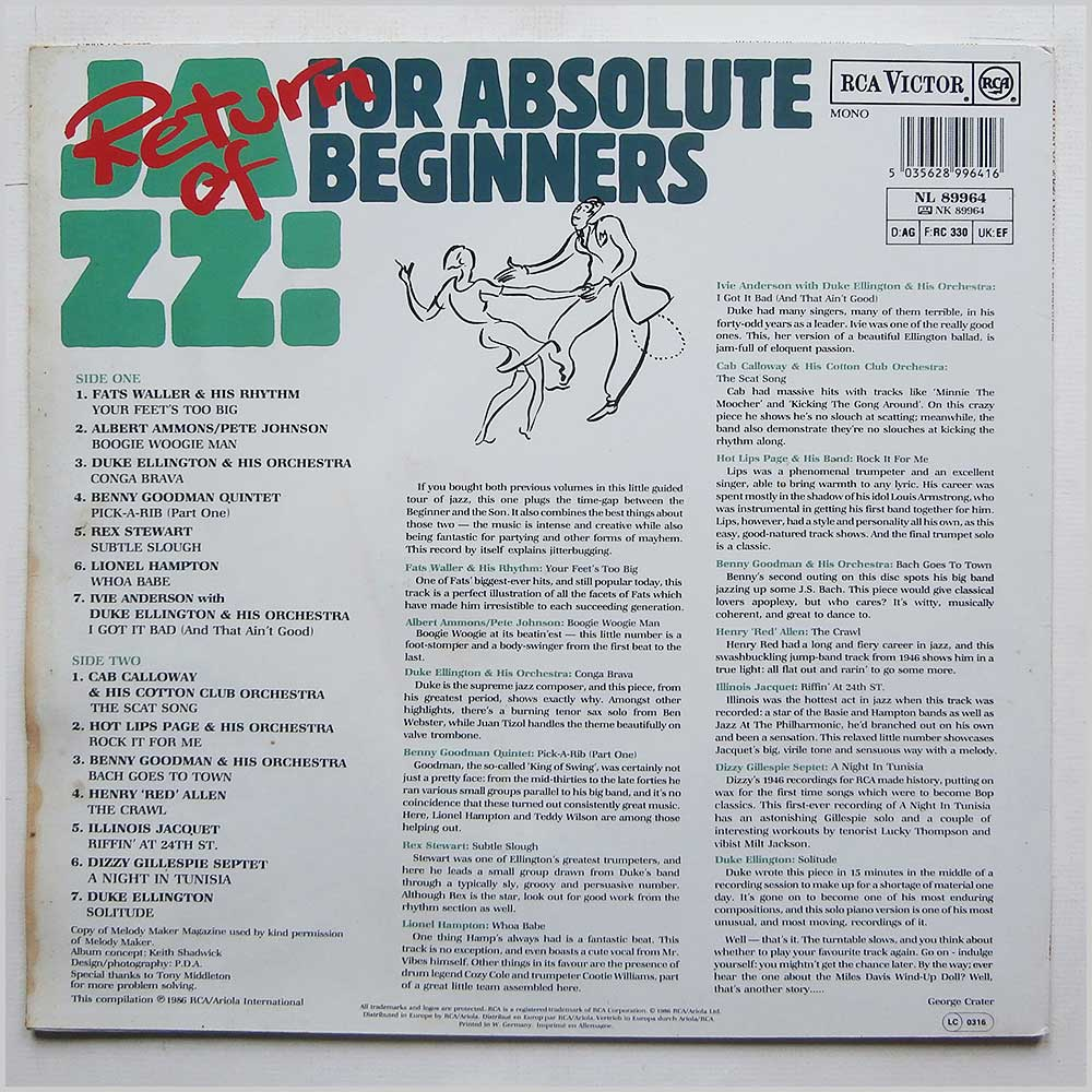 Various - Return Of Jazz For Absolute Beginners (NL89964)